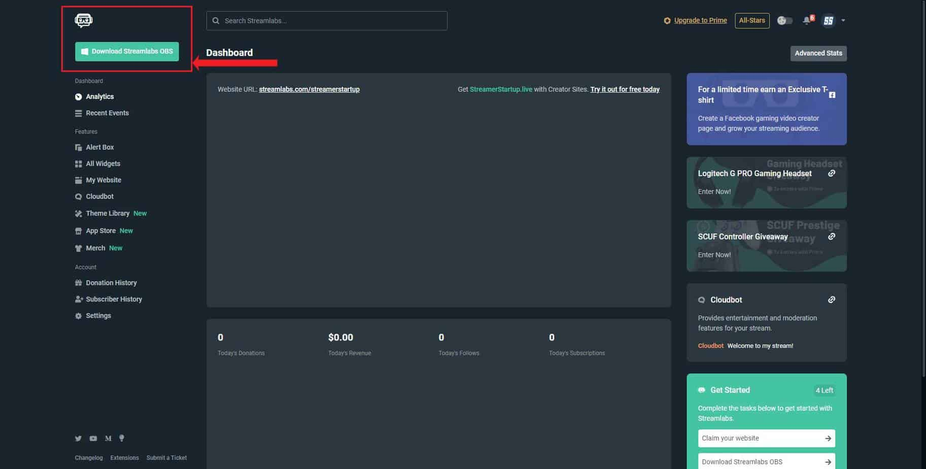 Download Streamlabs OBS