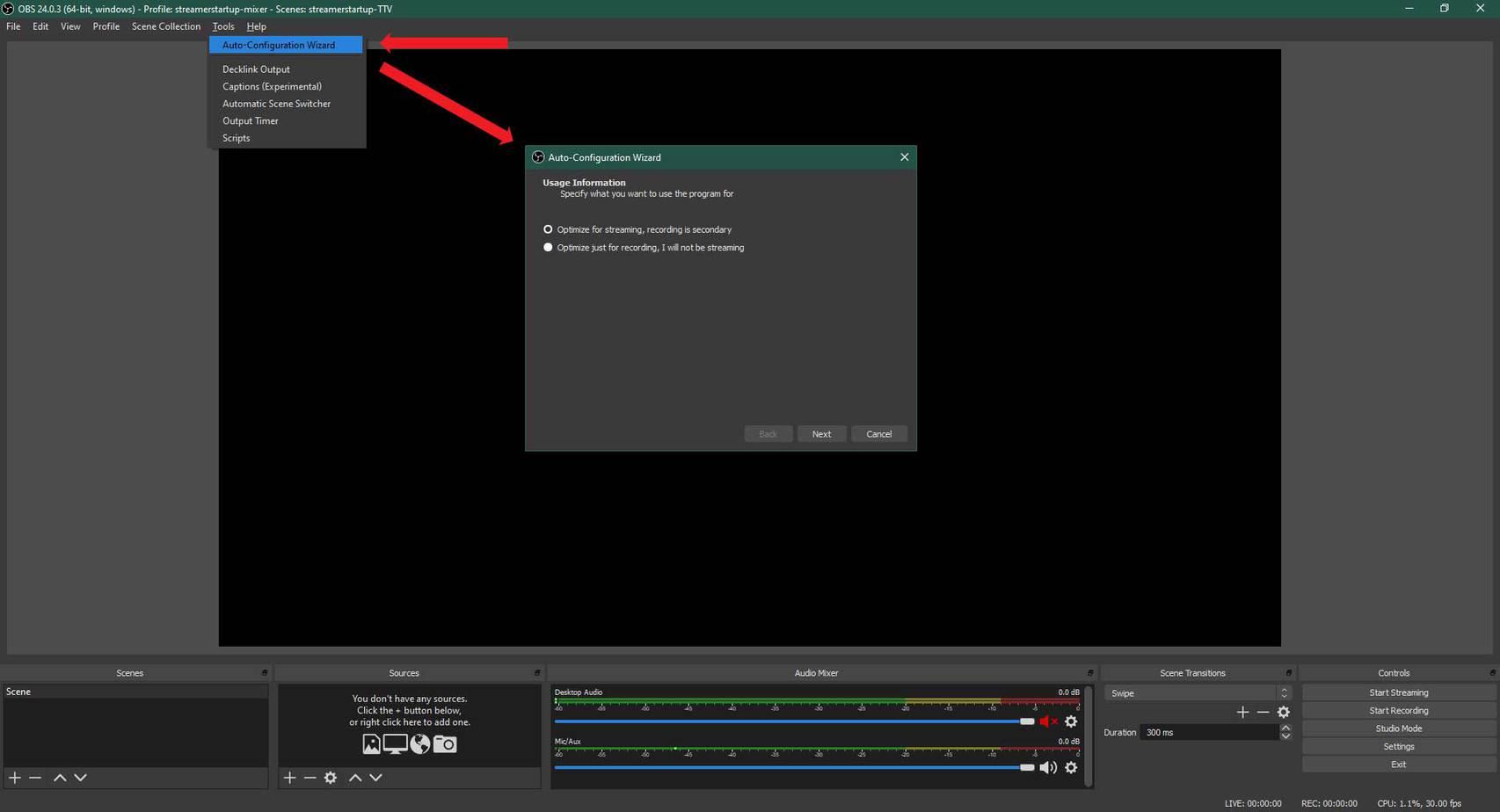 OBS Studio Auto-Configuration Wizard