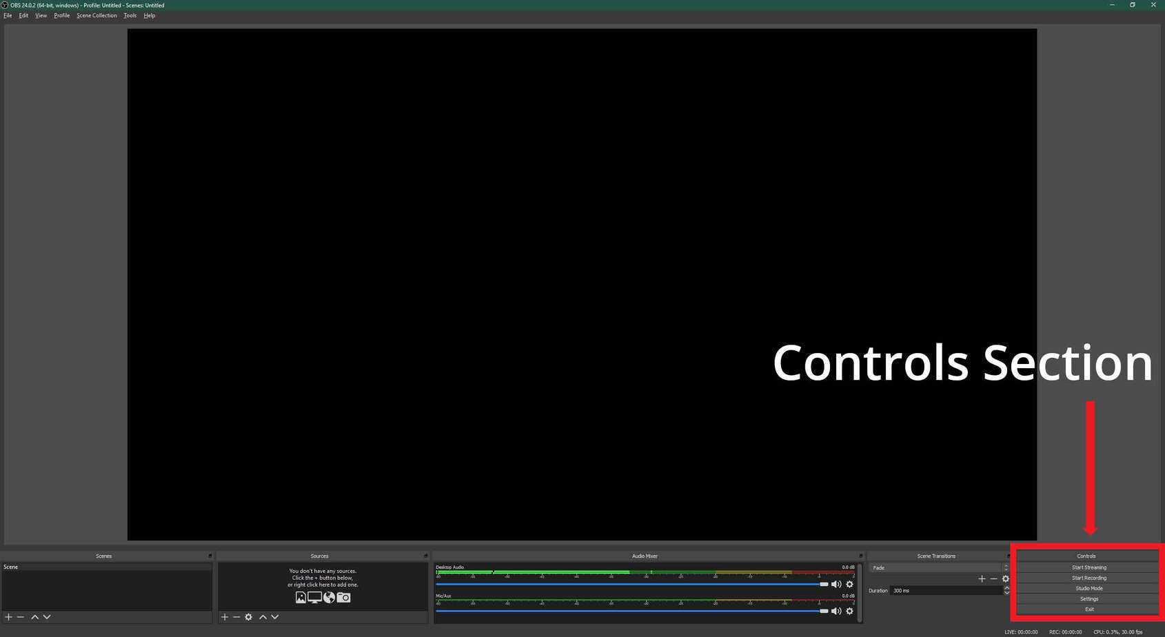 OBS Controls Section