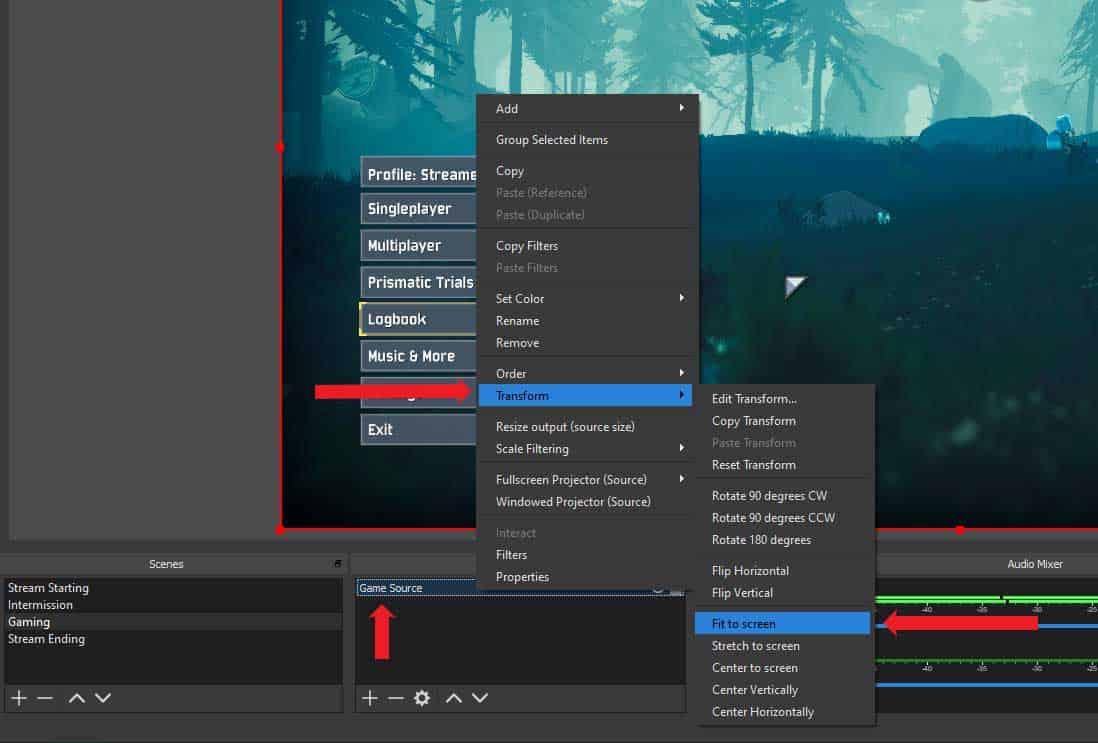 OBS Studio Preview fix
