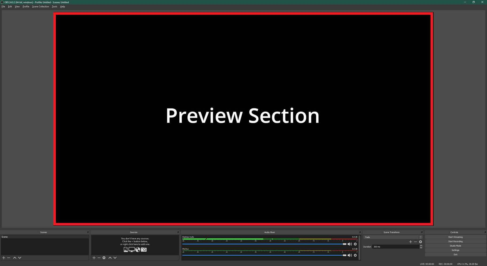 OBS Preview Screen