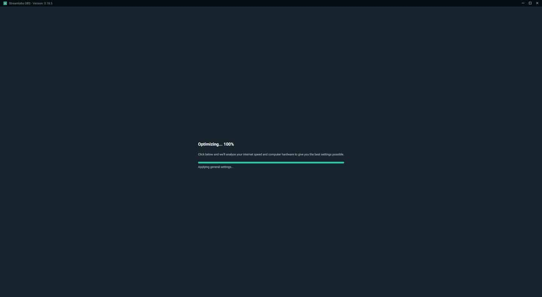 Streamlabs OBS Auto Optimizer 100%