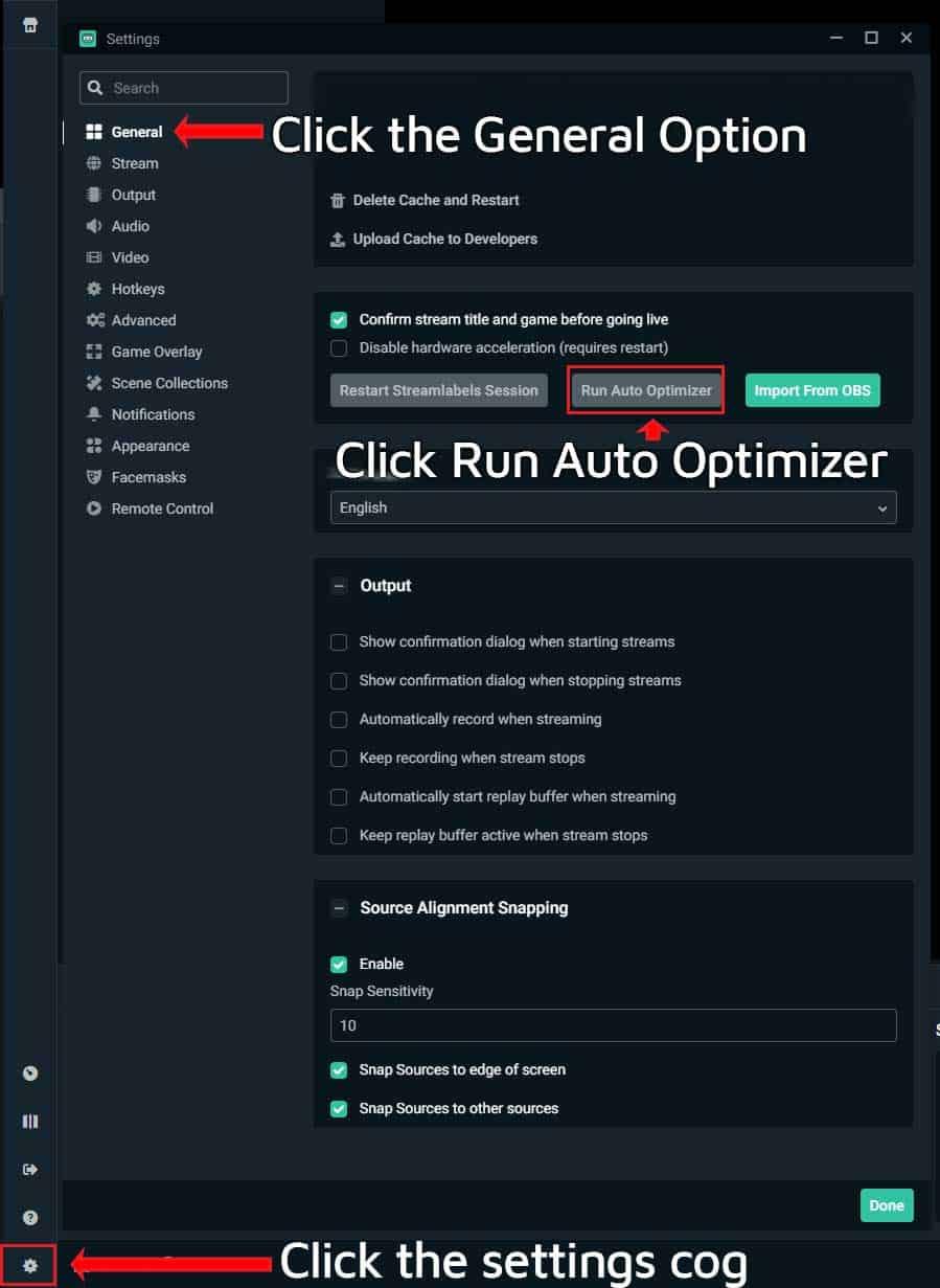 Streamlabs OBS Auto Optimizer