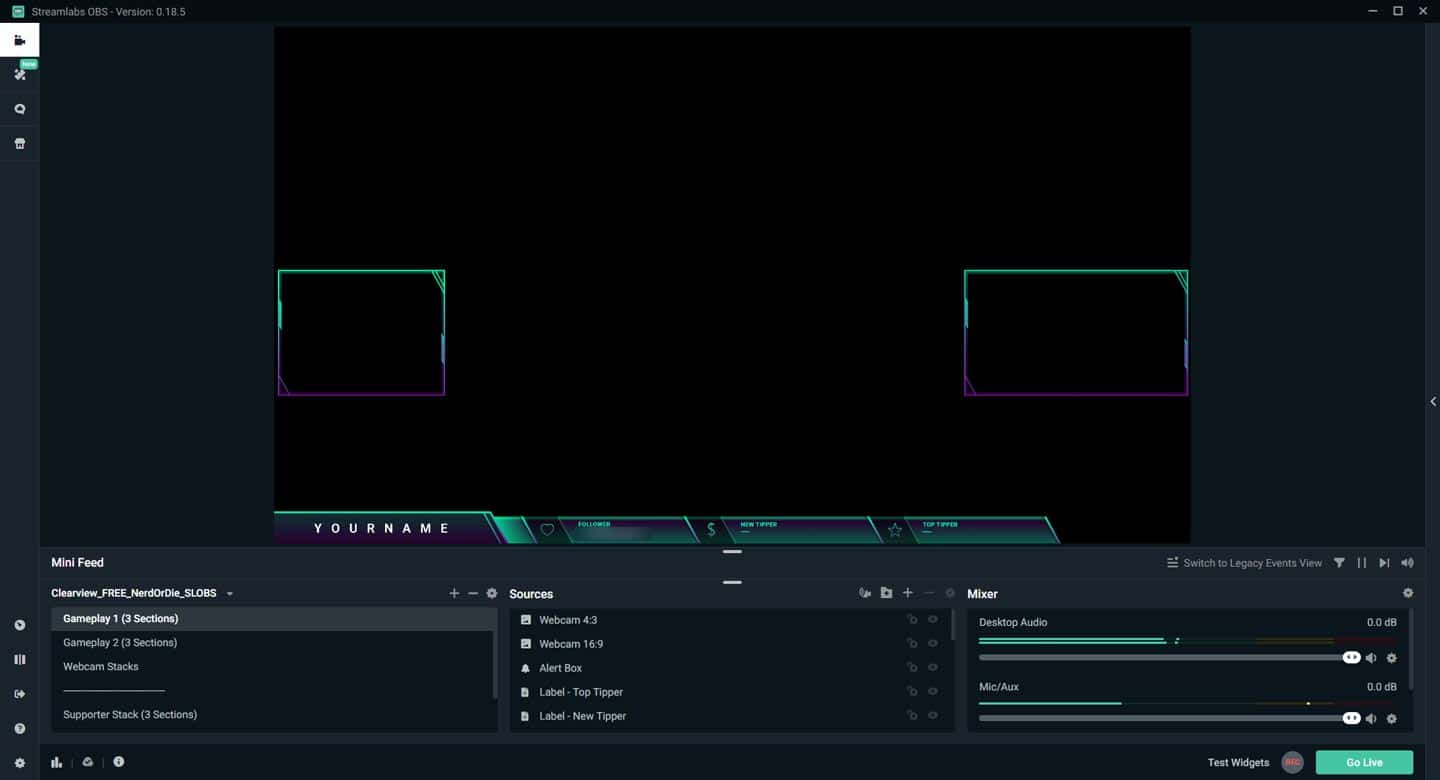 Streamlabs OBS Import Overlay Completed
