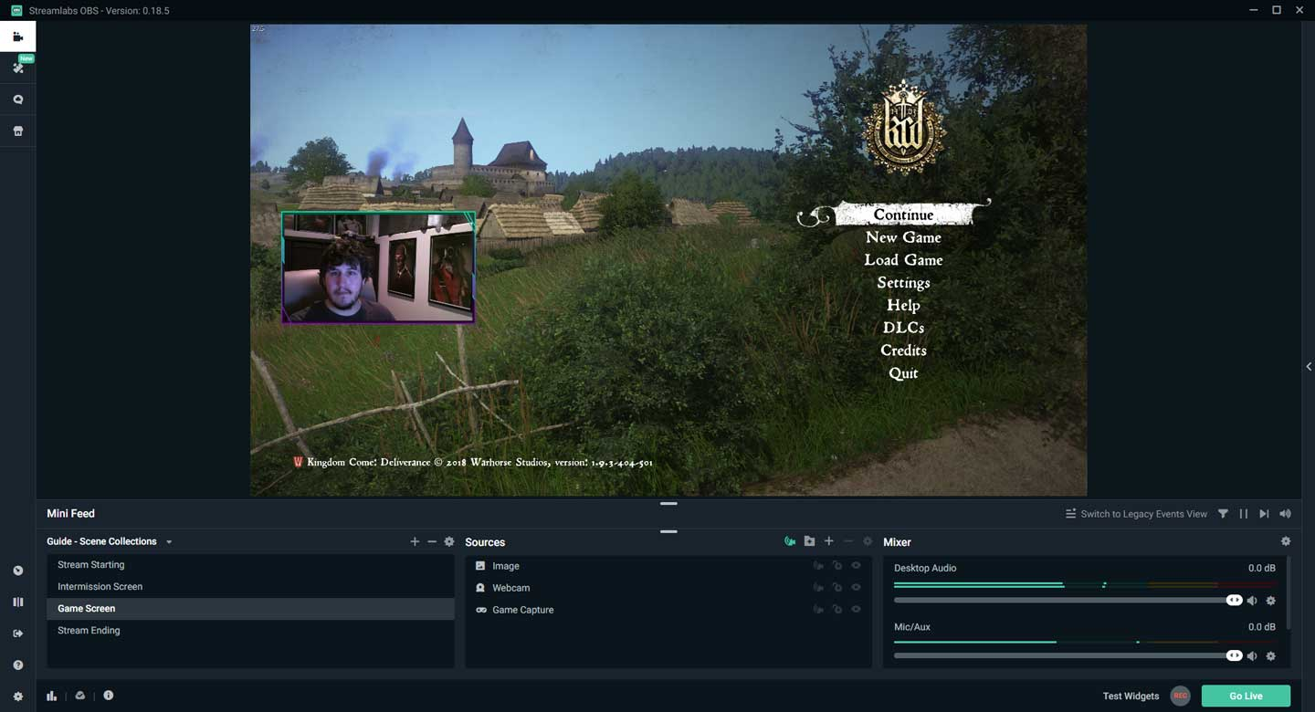 Streamlabs OBS Overlay Setup Completed