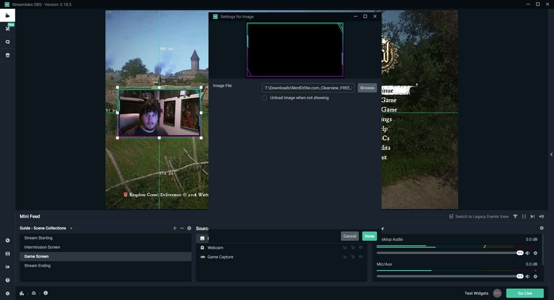 Streamlabs OBS Overlay Setup