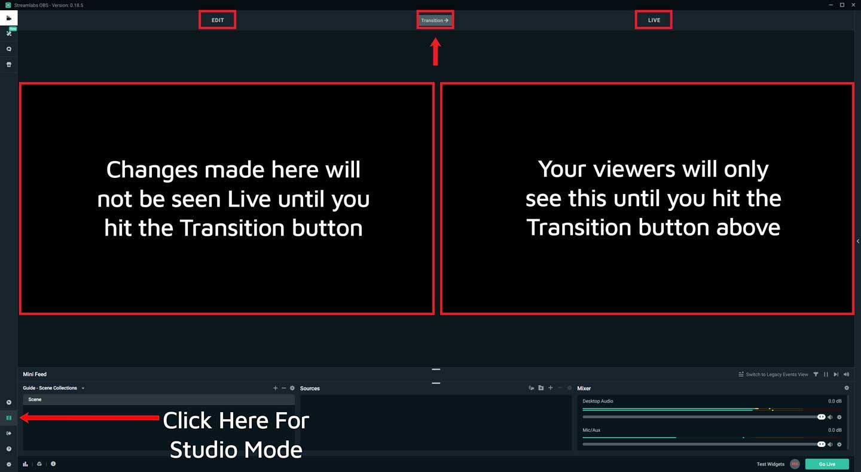 Streamlabs OBS Studio Mode