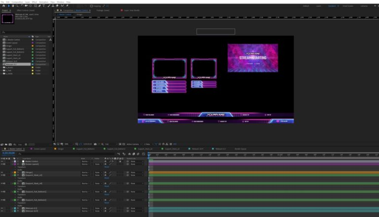 Retrowave After Effects Source Files