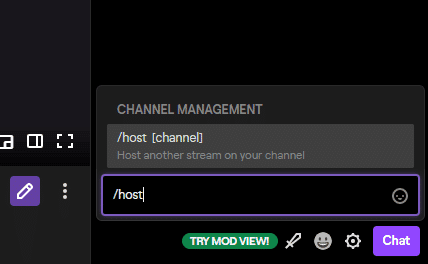How to host a Twitch channel