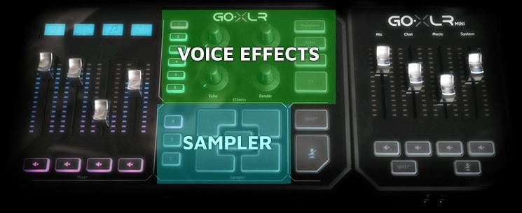 GoXLR vs GoXLR Mini - Interface Differences